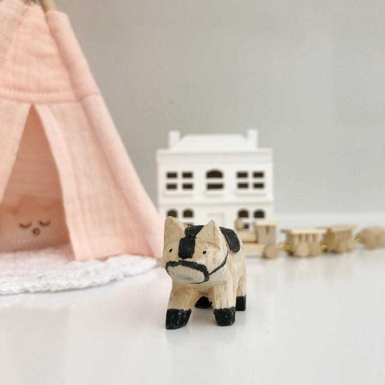 miniature horse, mini horse, wood horse, dollhouse horse, dollhouse toy