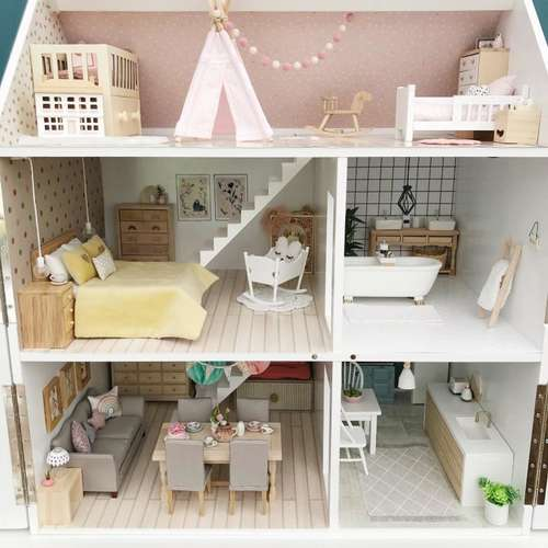 Pretty Little Minis Modern Dollhouse Furniture And Decor For Sale