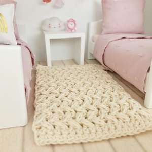 Maileg dollhouse rug, 12th scale dollhouse rug, crochet dollhouse rug