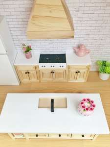 dollhouse kitchen, miniature kitchen, 12th scale kitchen