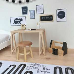 dollhouse stool, modern dollhouse furniture, modern dollhouse DIY ideas, modern dollhouse interior, dollhouse DIY furniture