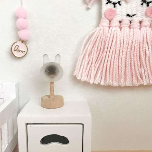 modern dollhouse decor, modern dollhouse furniture, modern dolls house furniture, dollhouse light, dollhouse bunny light, bunny nightlight dollhouse, miniature nightlight, mini nightlight