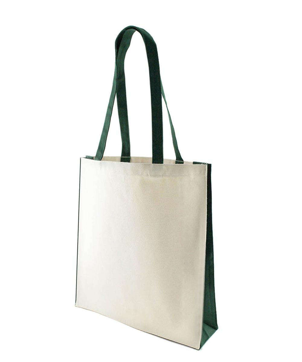 10 oz Canvas Bag with Green Trim