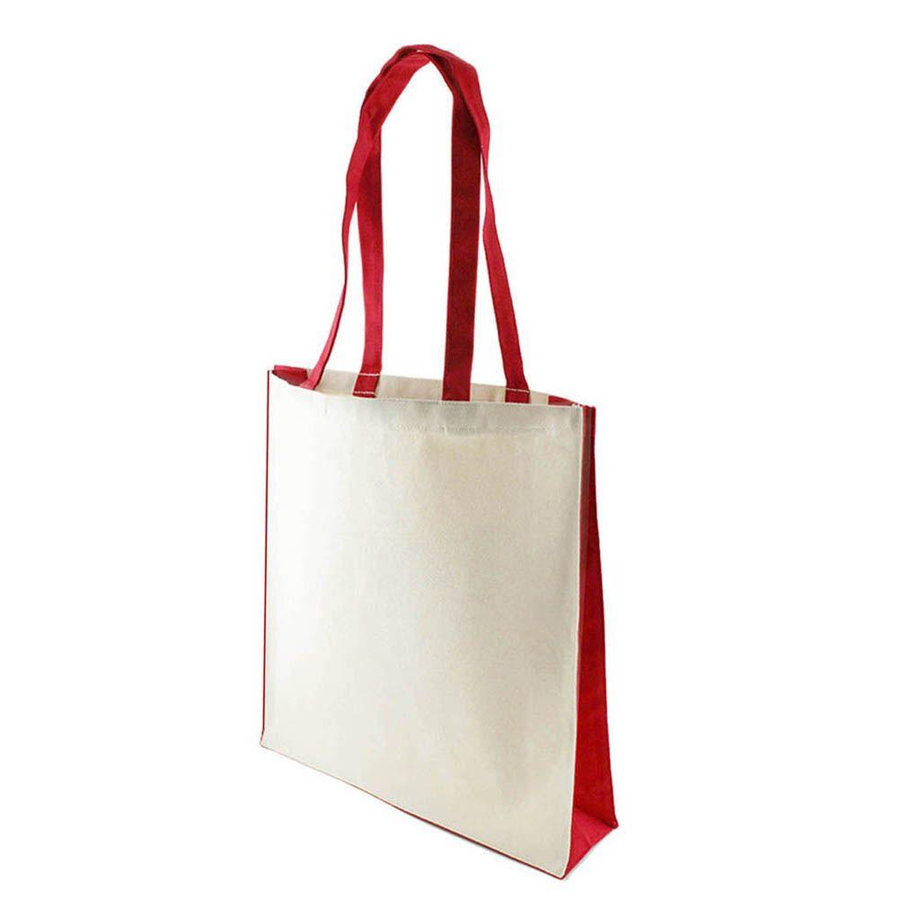 10 oz Canvas Bag with Red Trim