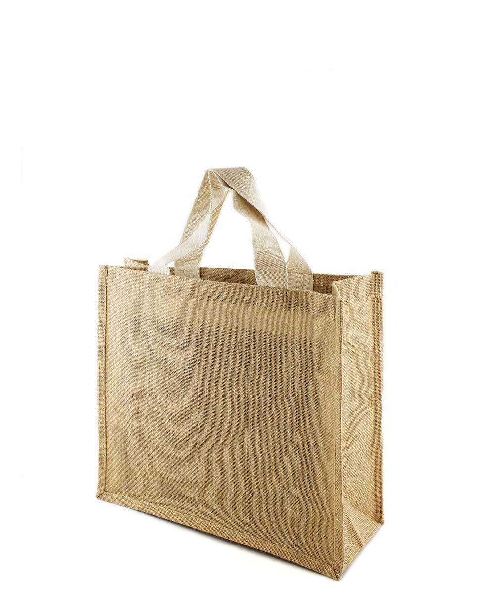 Jute Bag with Short Webbing Handle