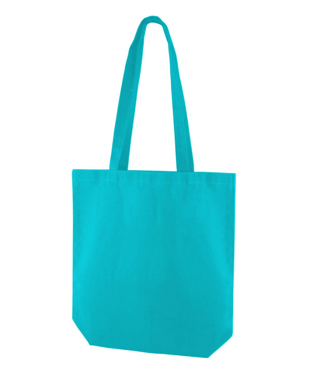 Turquoise Canvas Tote Bag