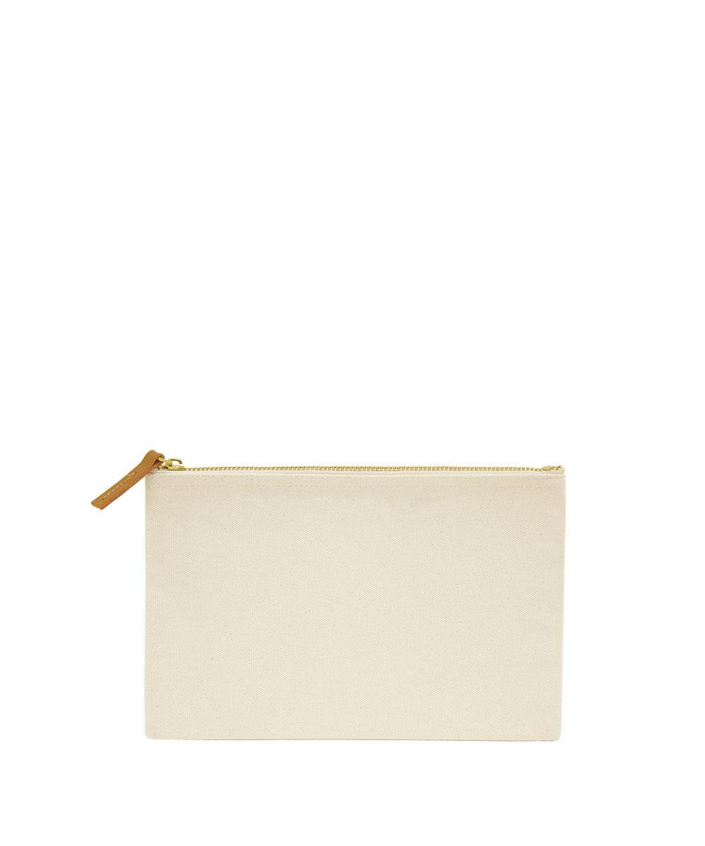 Canvas Pouch with Leather Puller