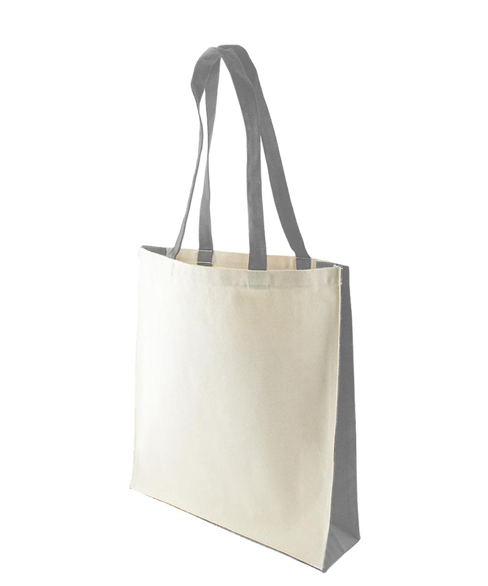 10 oz Canvas Bag with Grey Trim