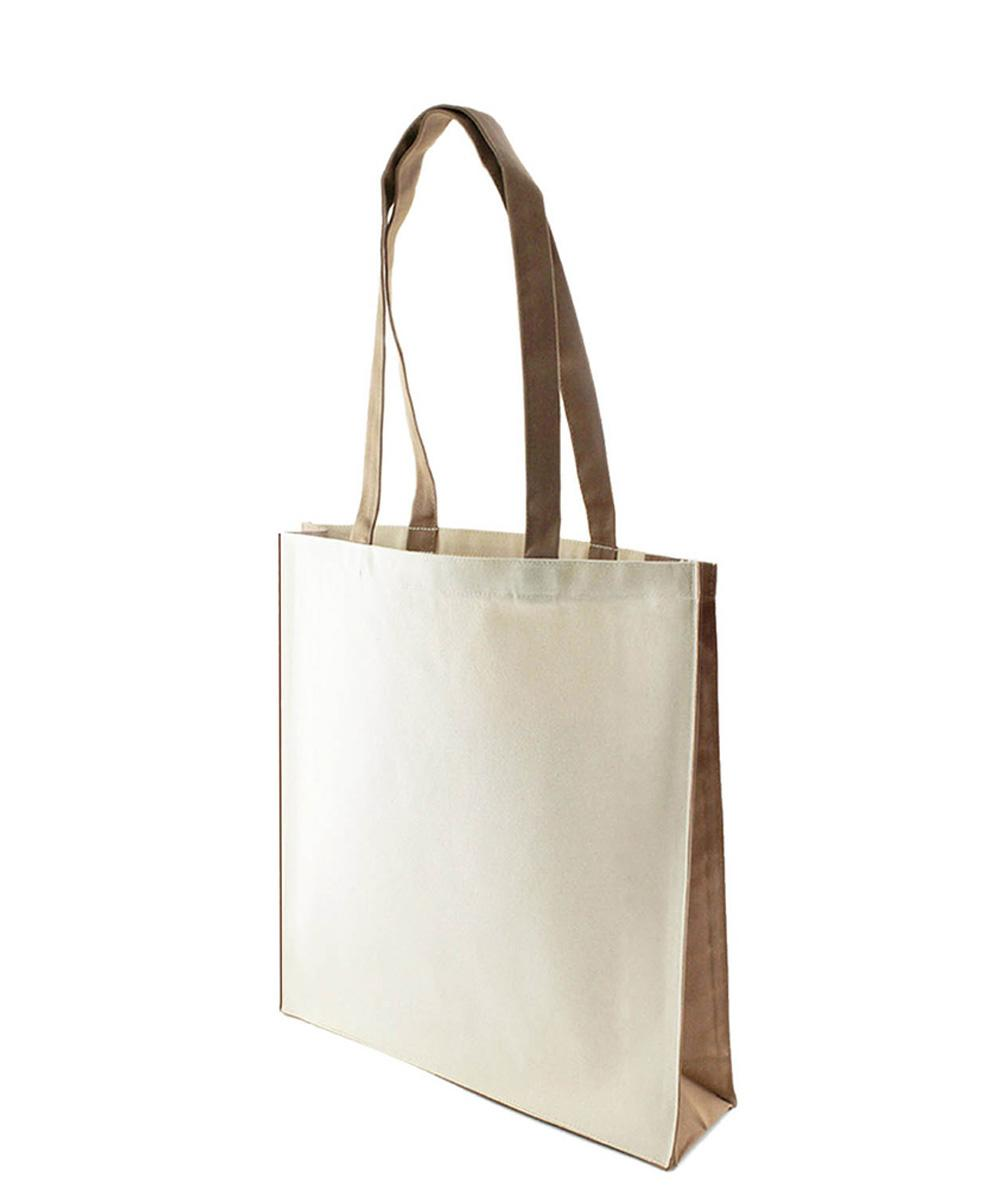 10 oz Canvas Bag with Mocha Trim