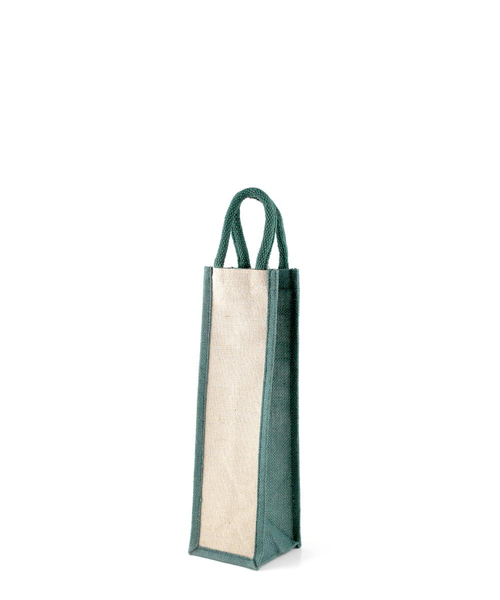 Green Jute Bottle Bag