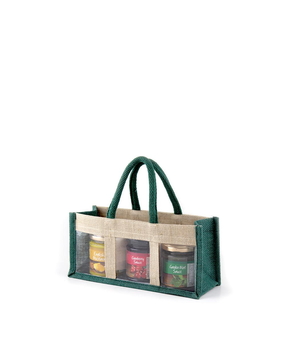 Green Jute Jar Bag
