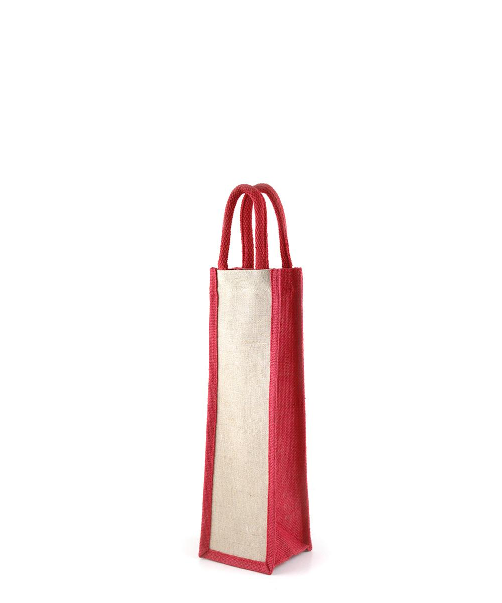 Red Jute Bottle Bag