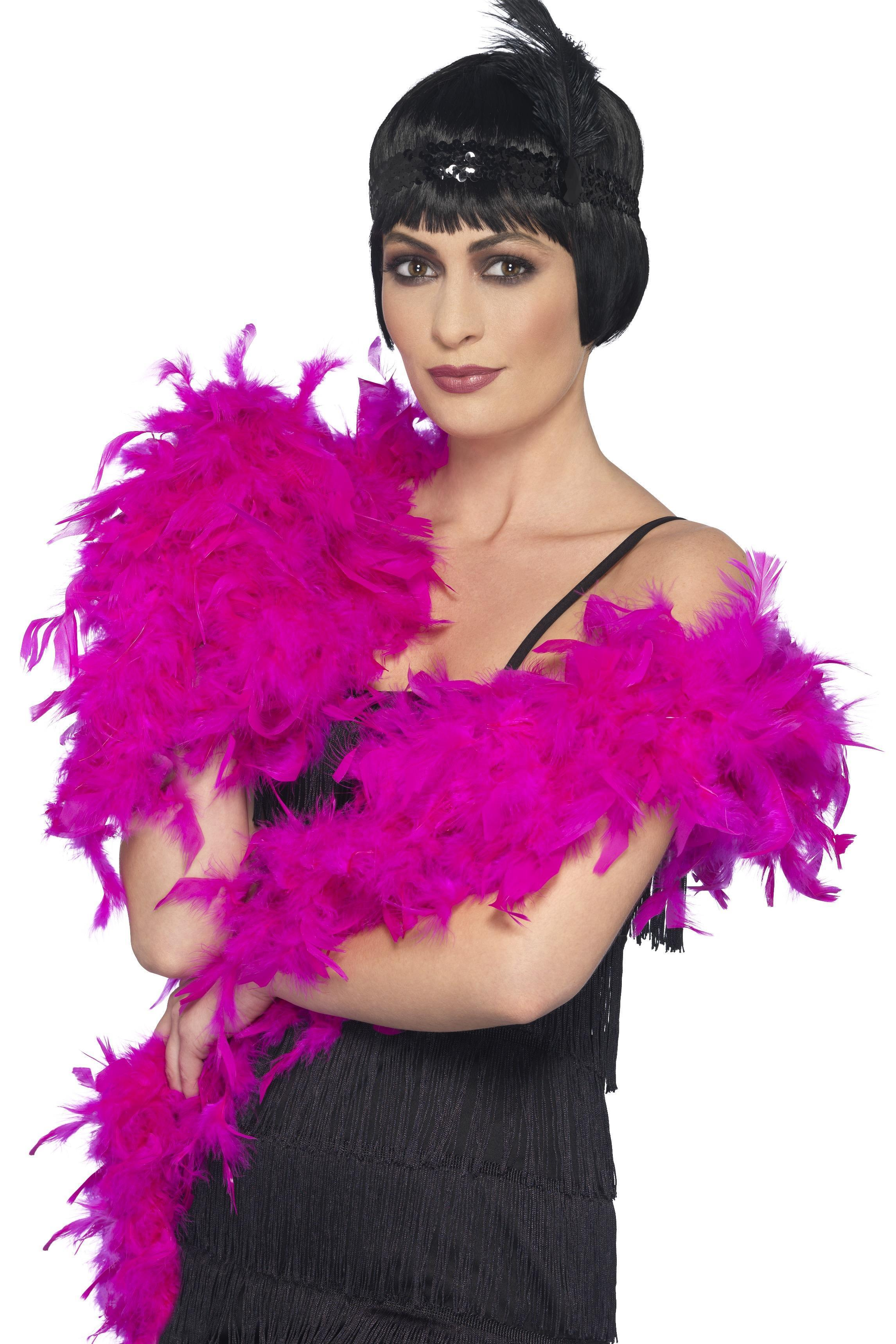 Deluxe Feather Boa Hot Pink