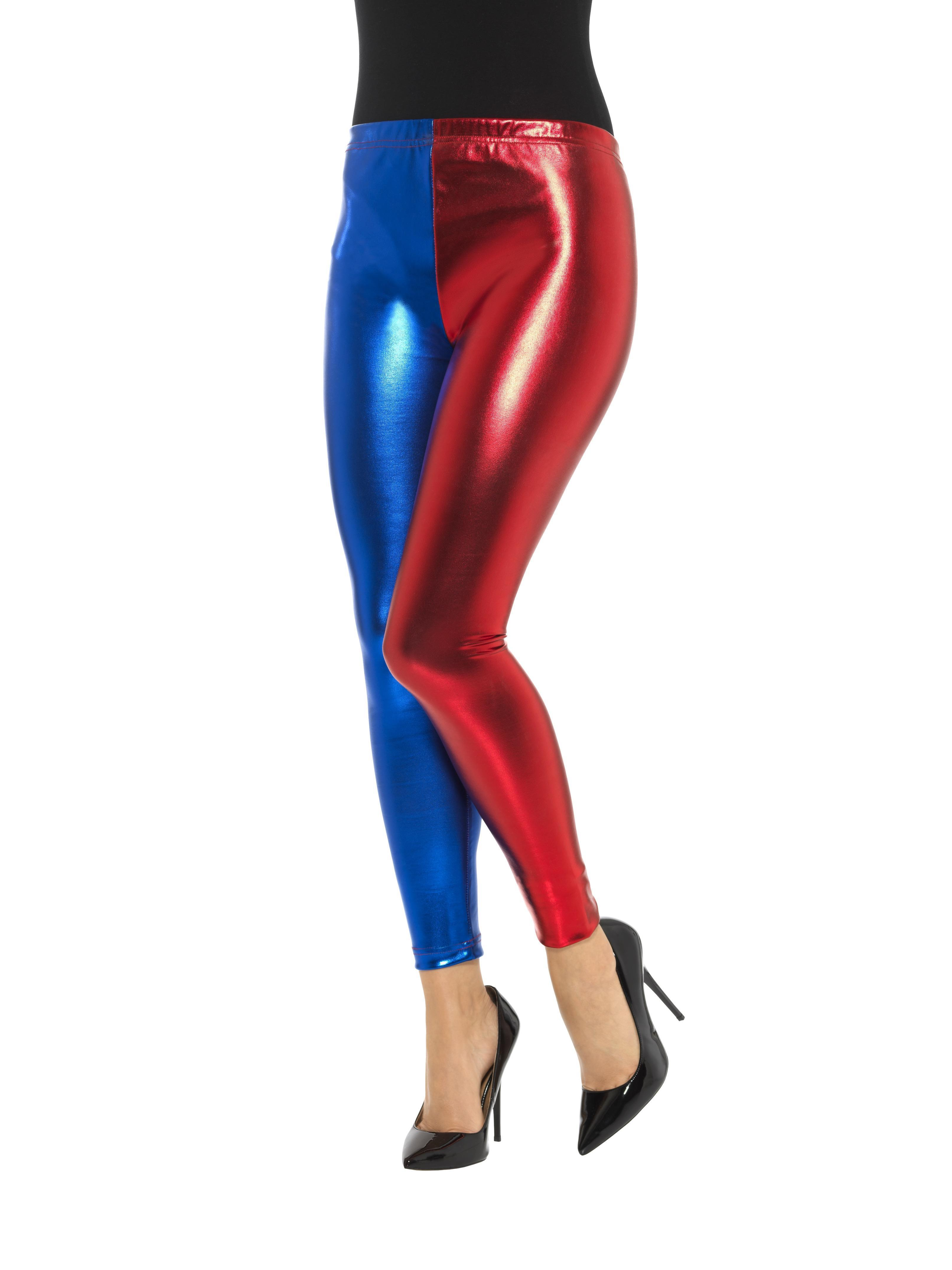 Jester Cosplay Leggings Blue Red