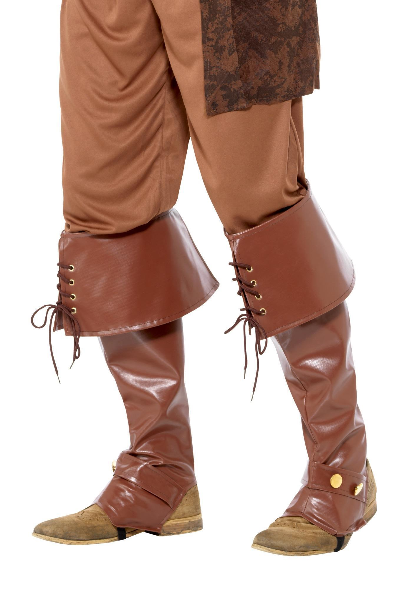 Pirate Boot Covers Brown