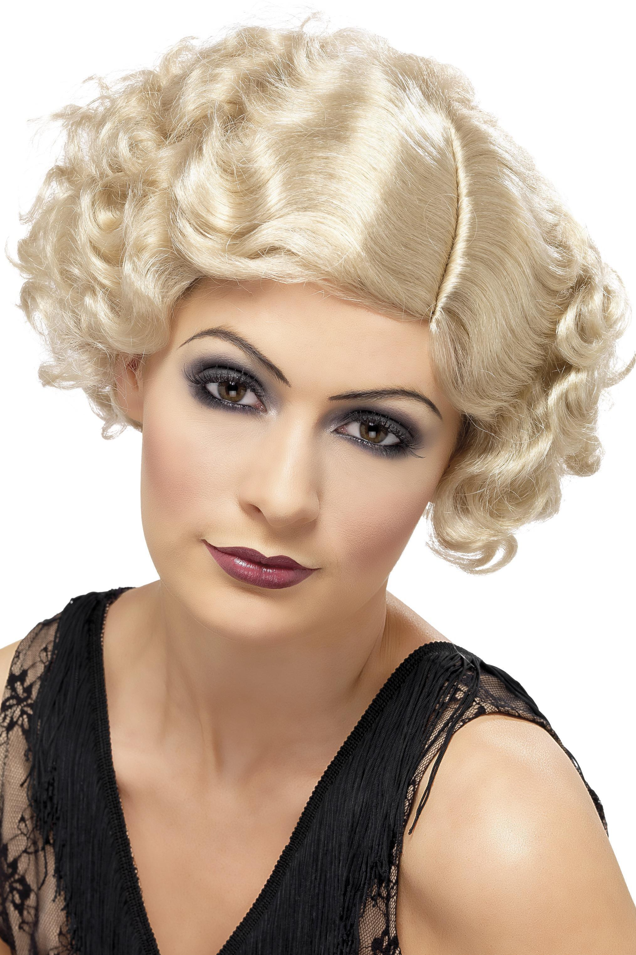 20s Flirty Flapper Wig Blonde