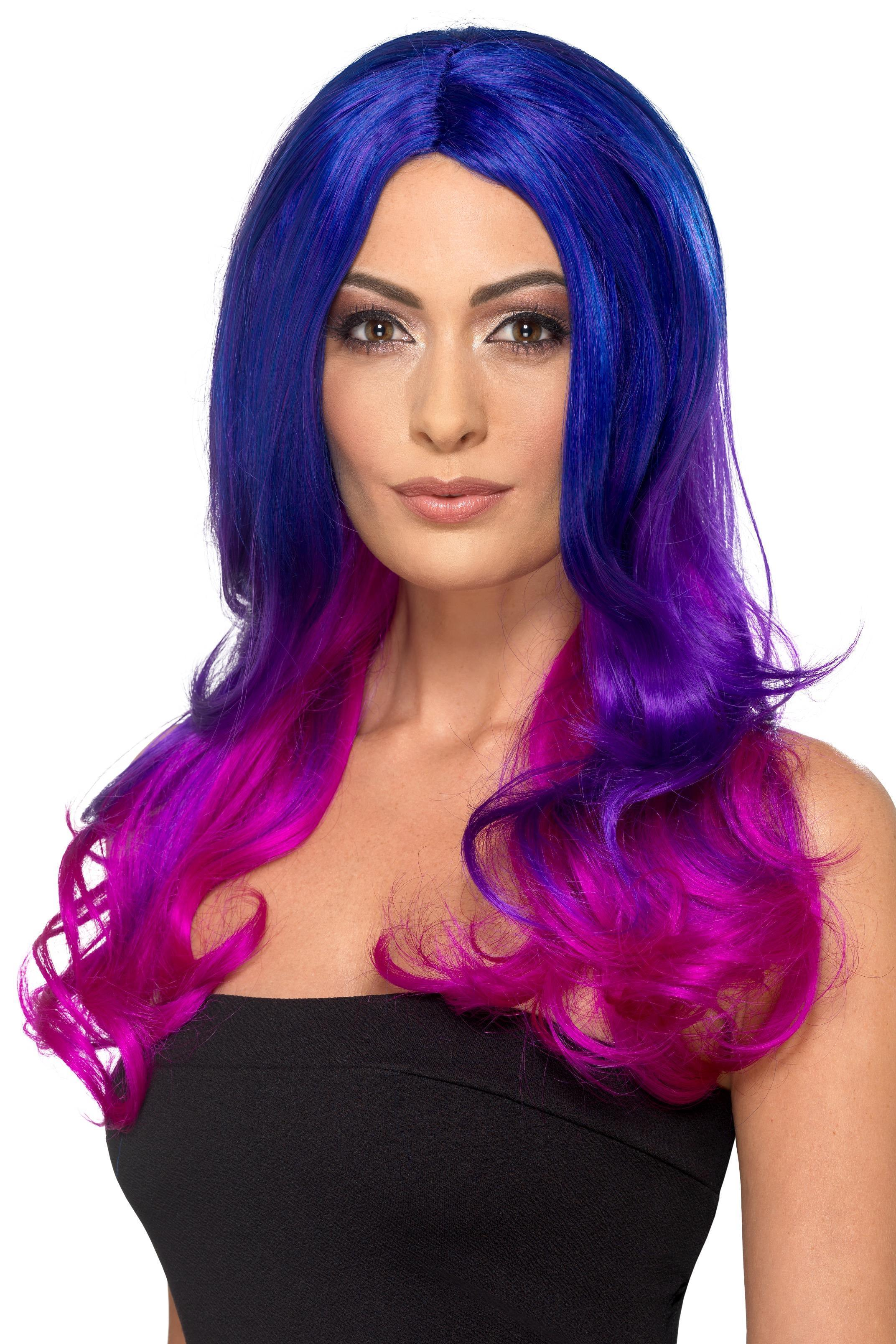 Fashion Ombre Wig Blue & Pink