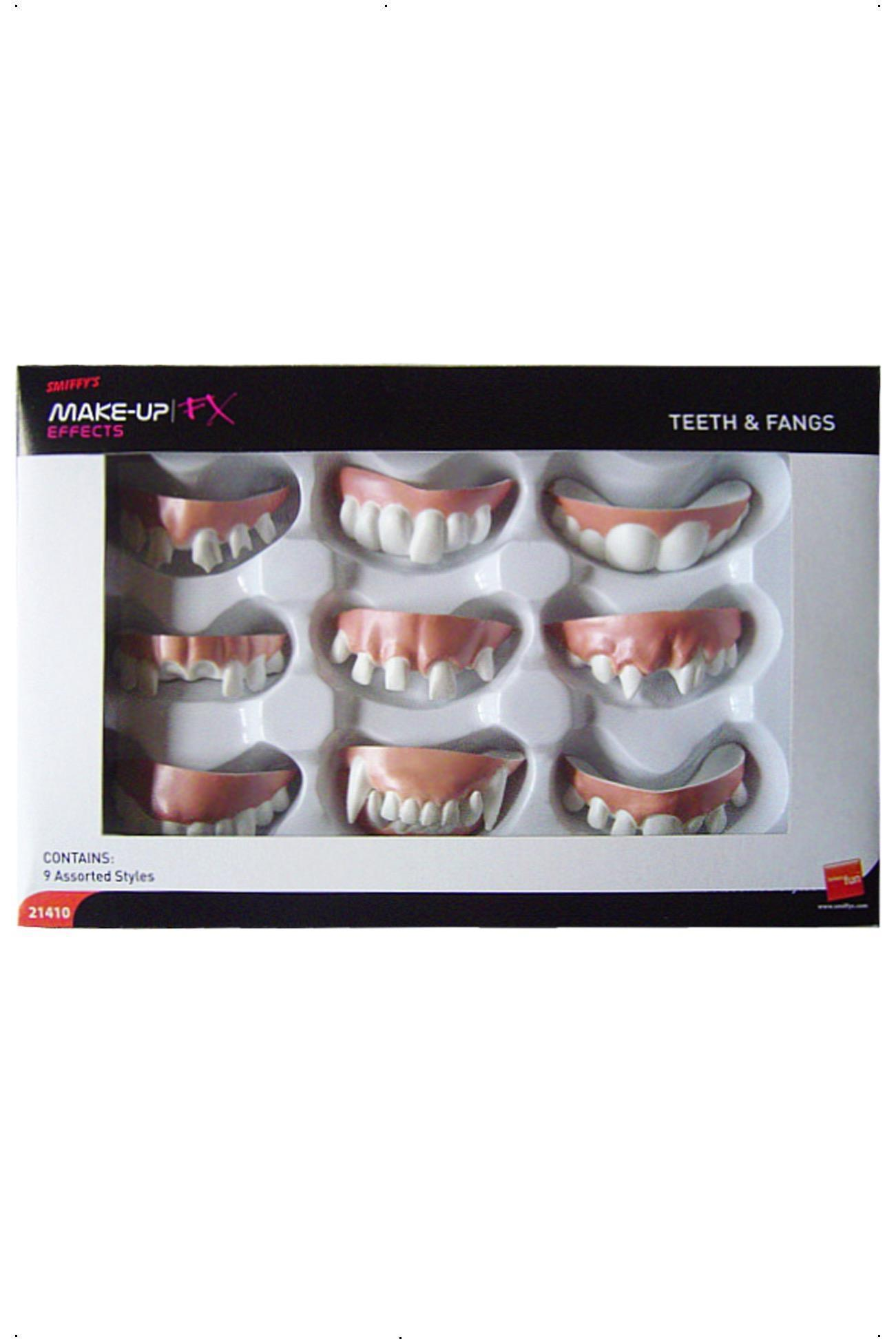 Teeth and Fangs Pack of 9