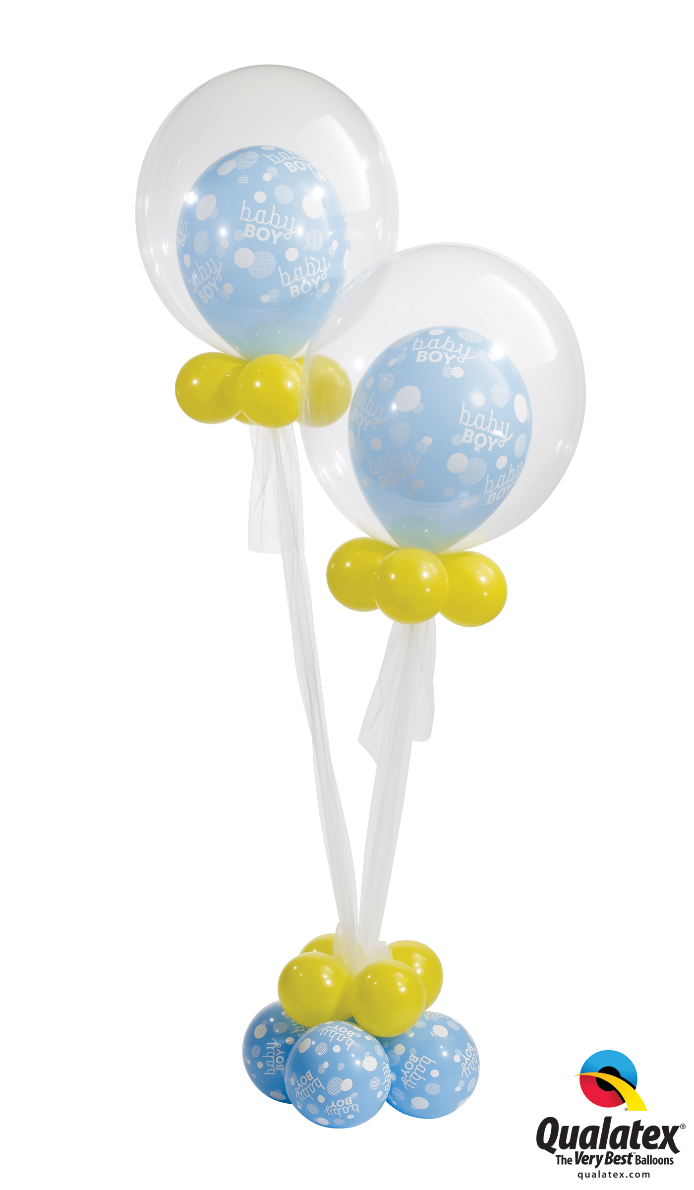 Twin Celebration Deco Bubble Balloon Bouquet