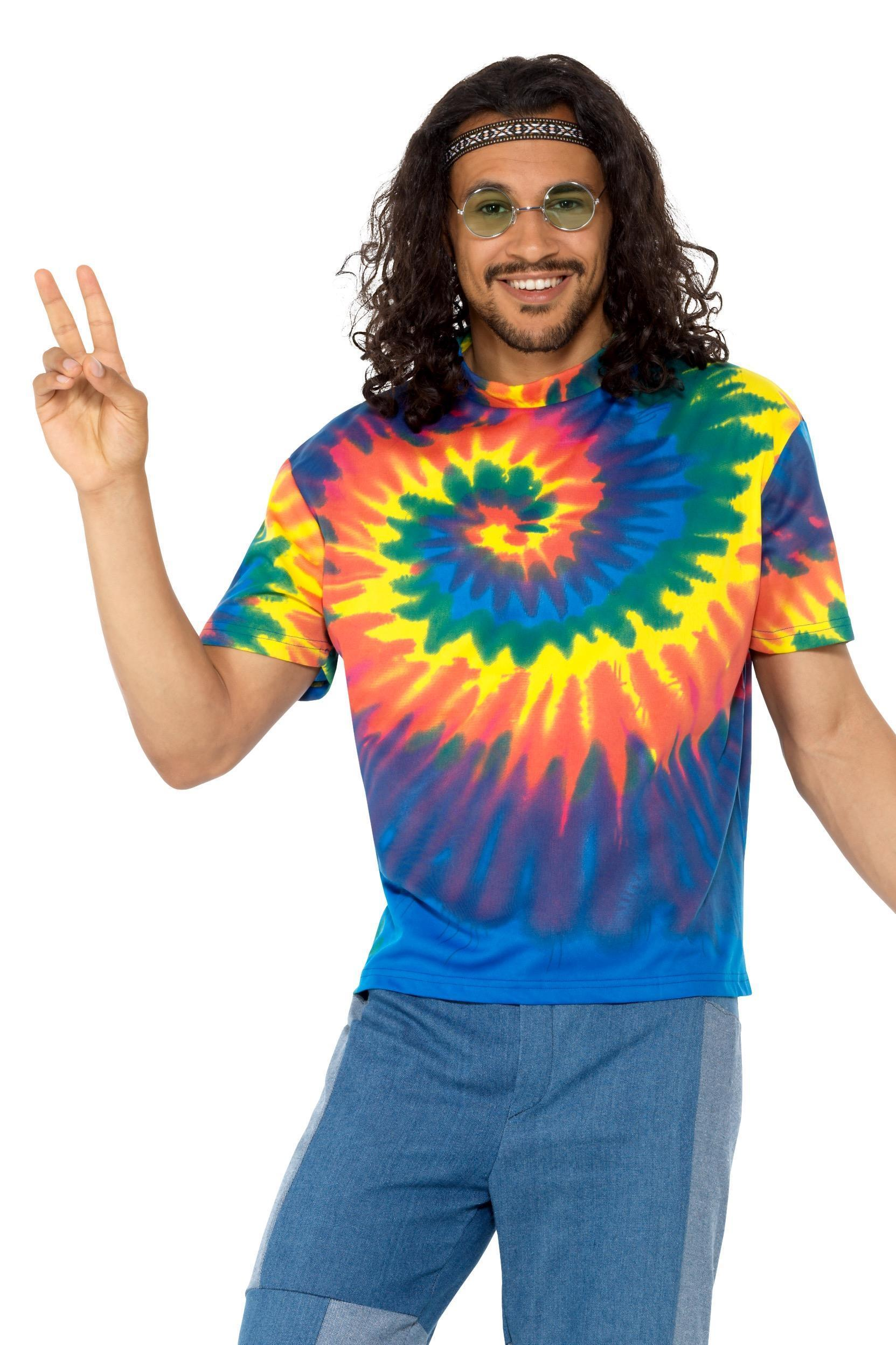 1960s Tie Dye T-Shirt Multi-Coloured