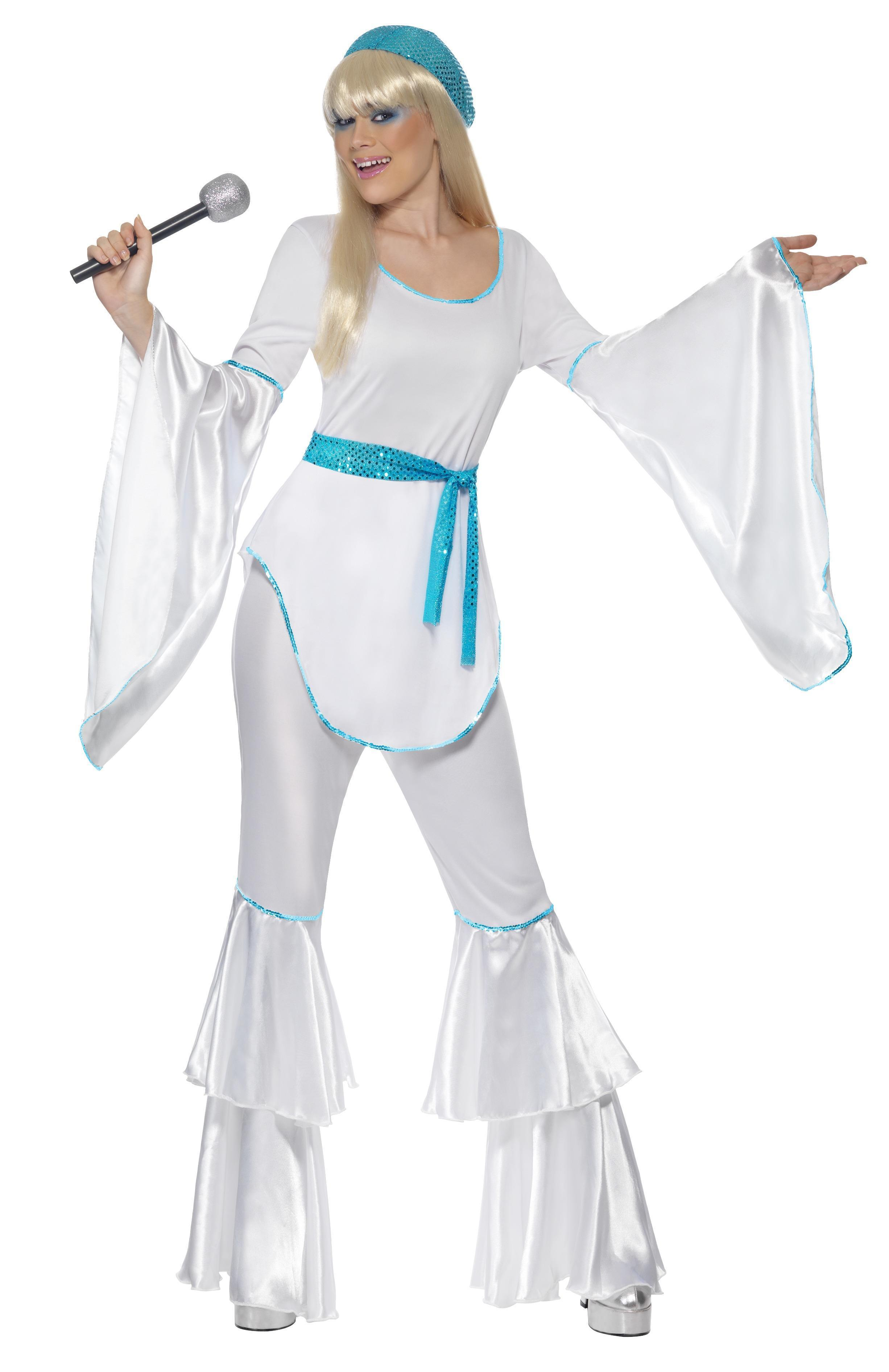 70s Super Trooper Costume Female White