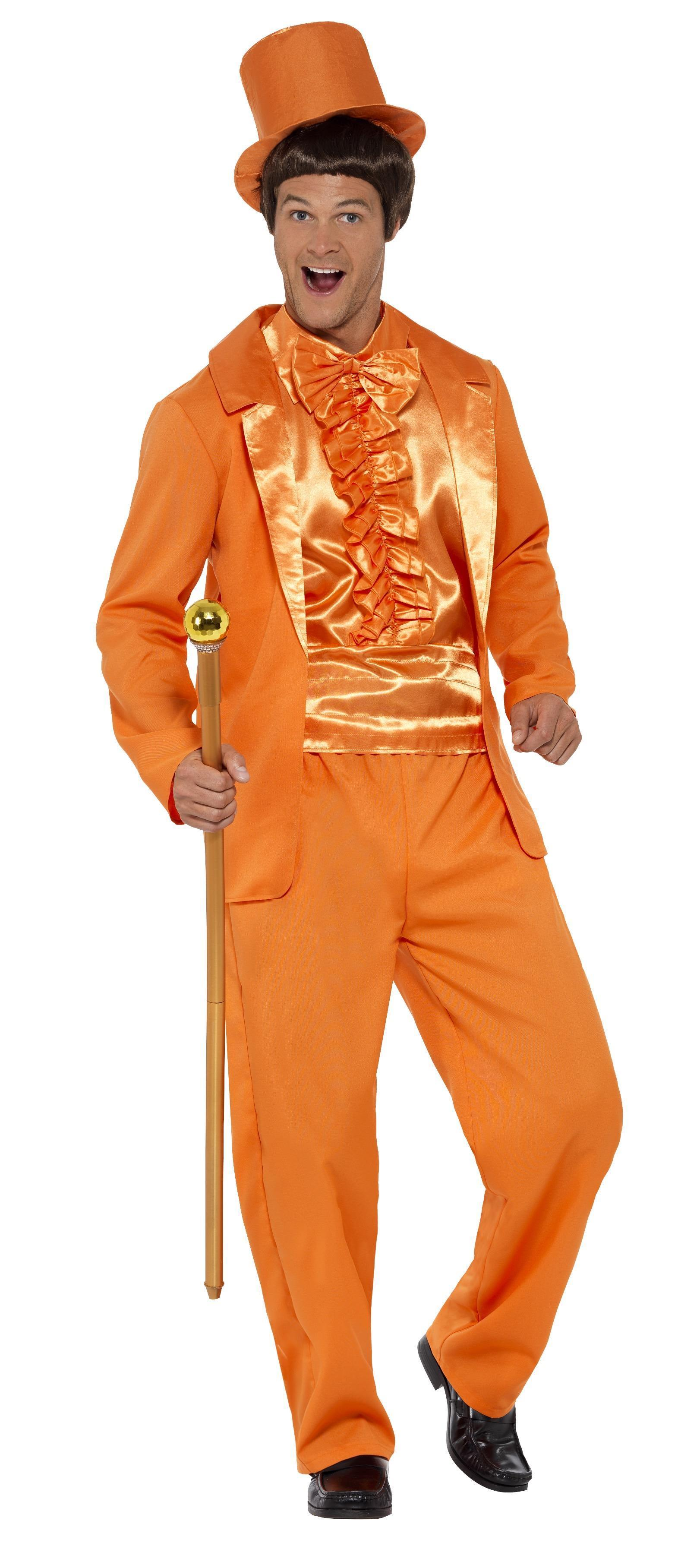 90s Stupid Tuxedo Costume Orange