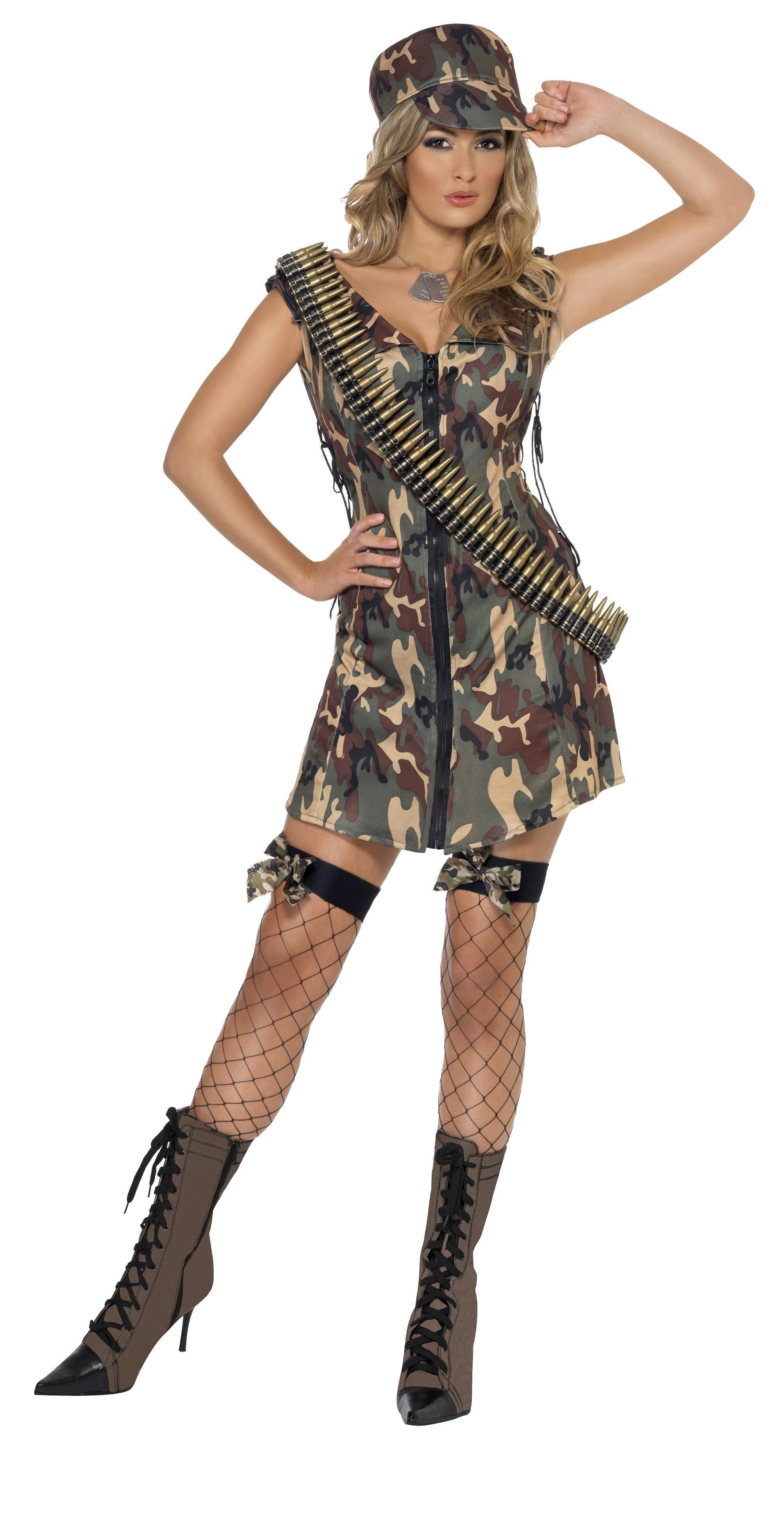 Army Girl Costume Camouflage