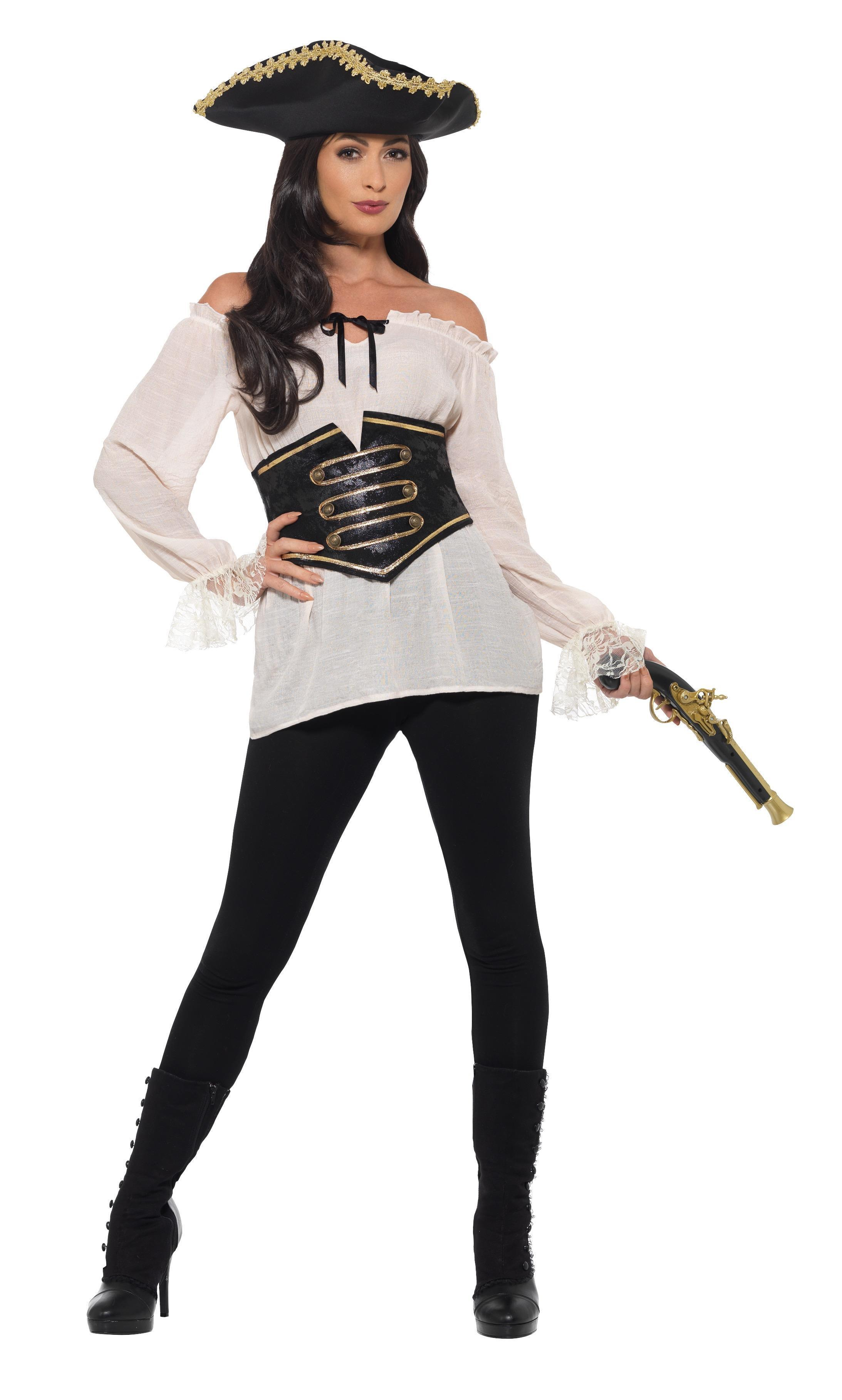 Deluxe Pirate Shirt Ladies Ivory