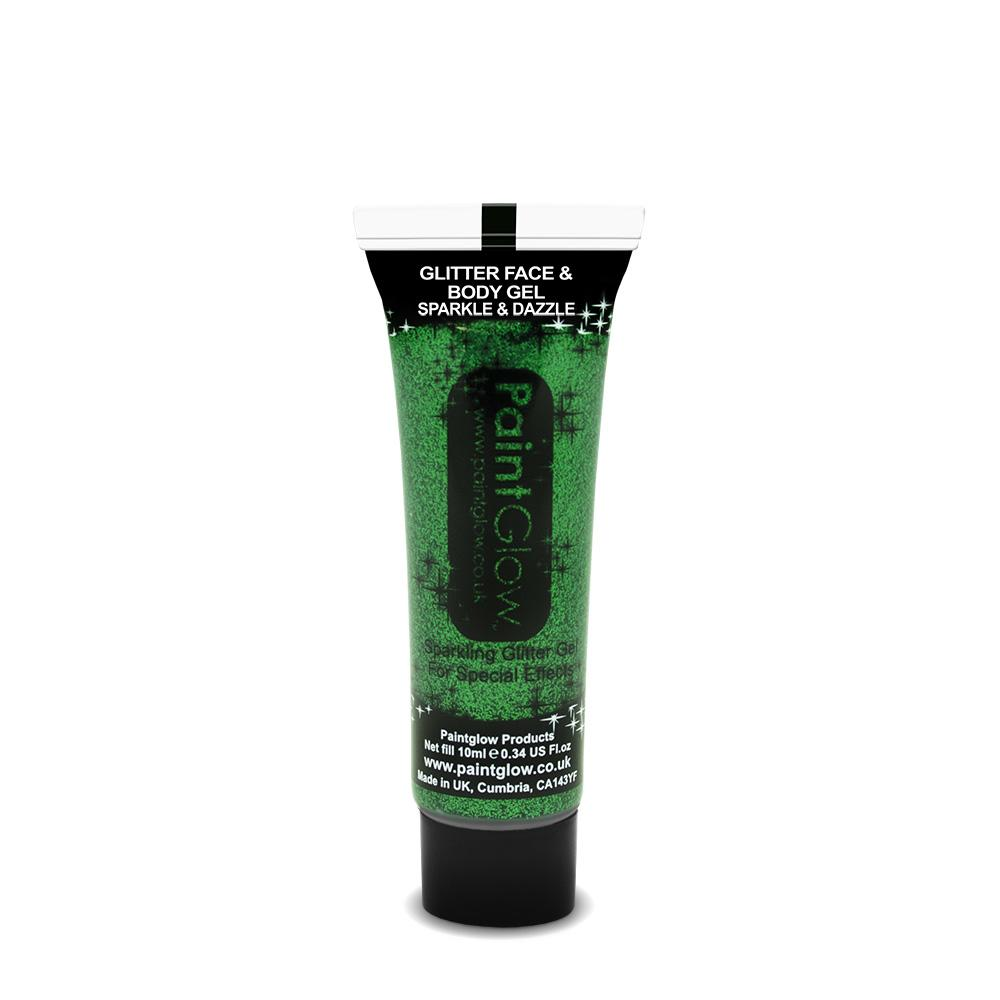 Glitter Face & Body Gel Green