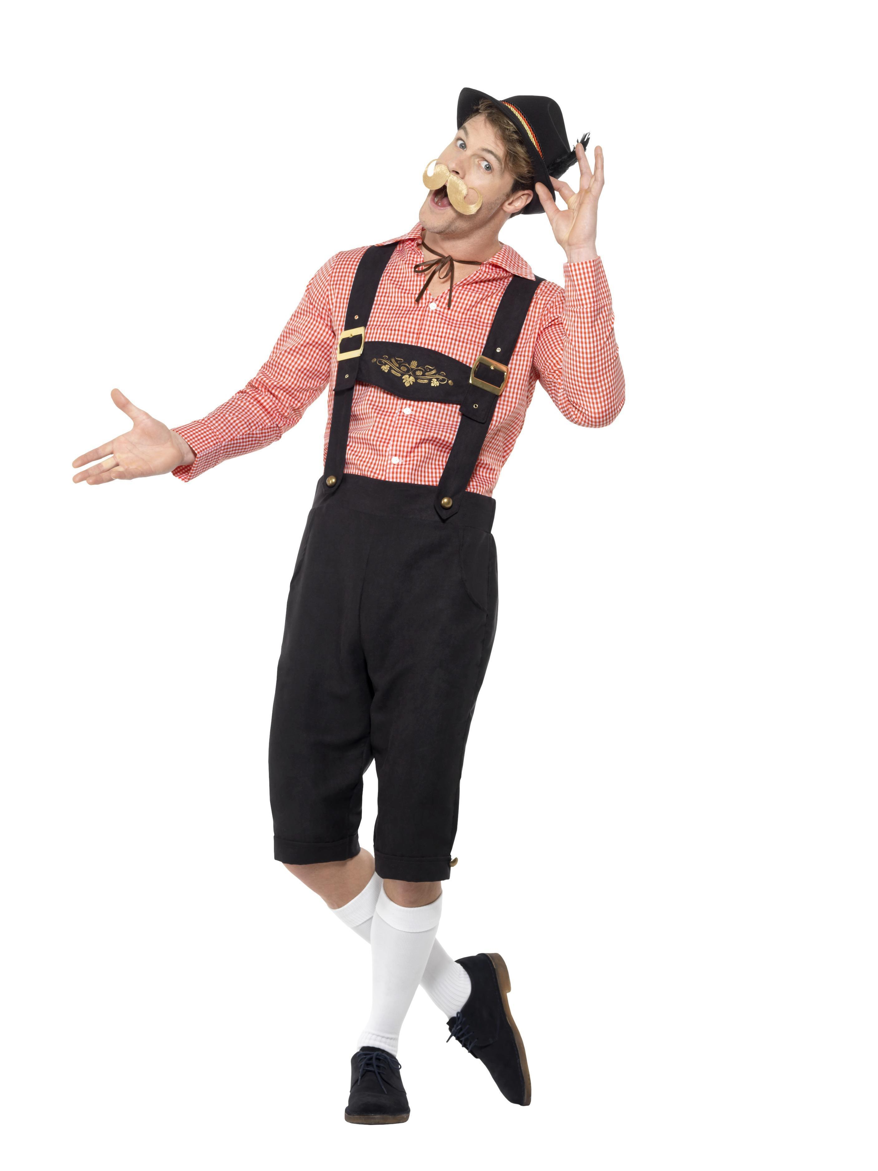 Bavarian Beer Guy Costume Red