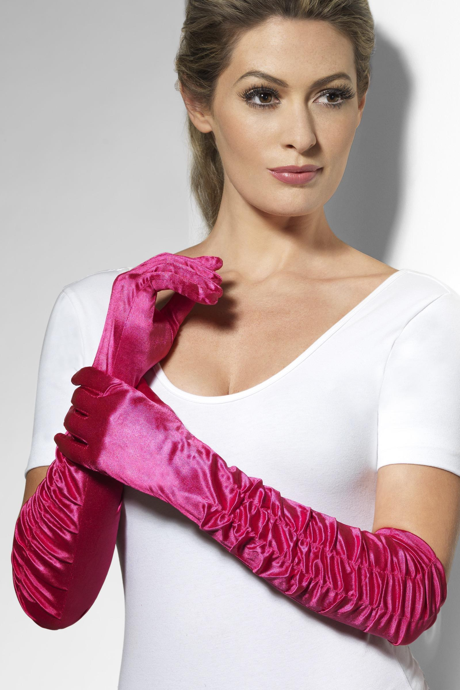 Temptress Gloves Pink Long
