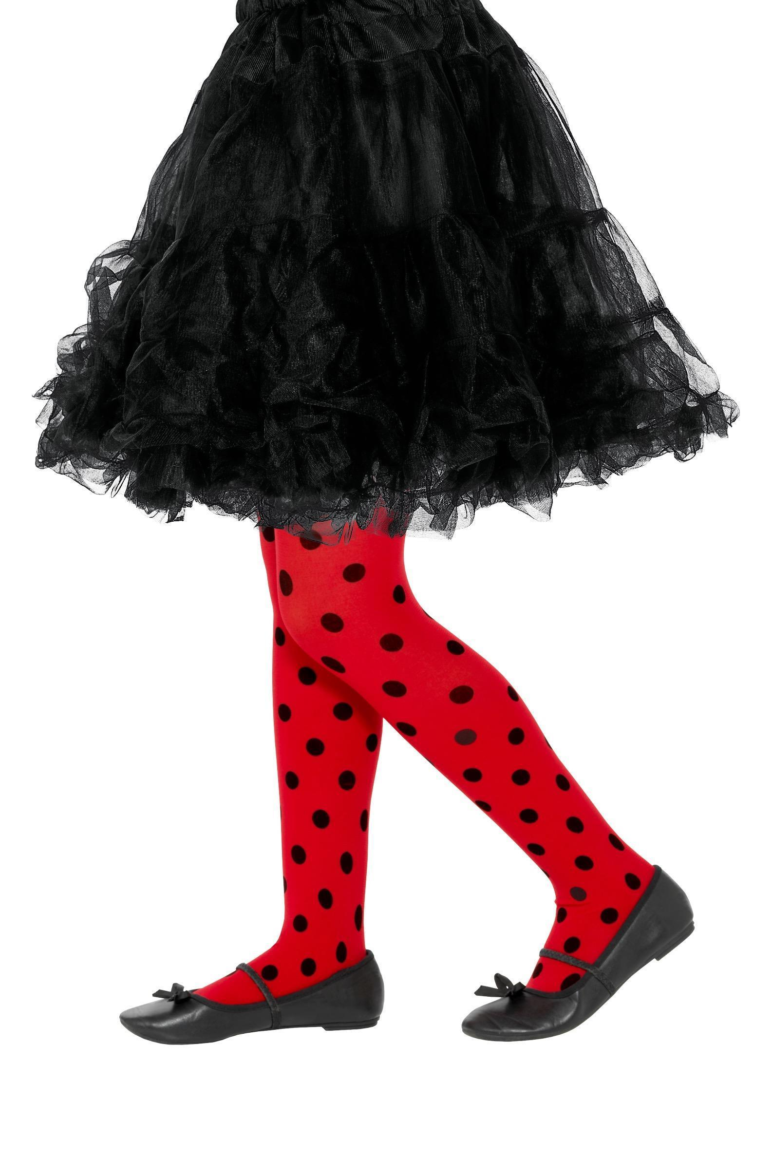 Ladybird Spot Tights Age 6-12