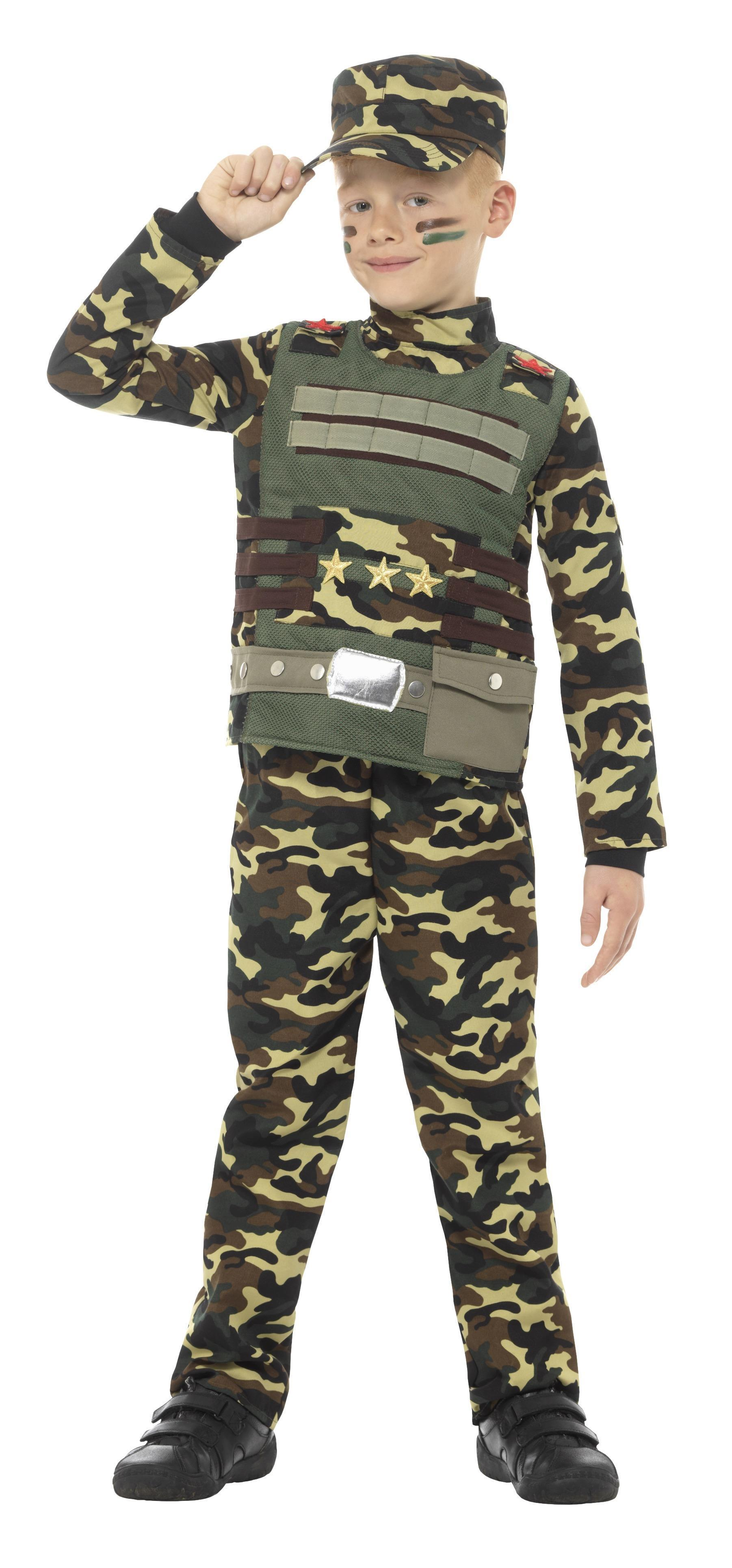 Kids Camouflage Military Boy Costume