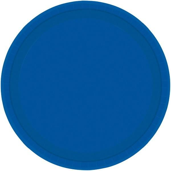 Paper Plates Royal Blue 8 Pack