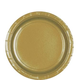 Paper Plates Gold 8 Pack