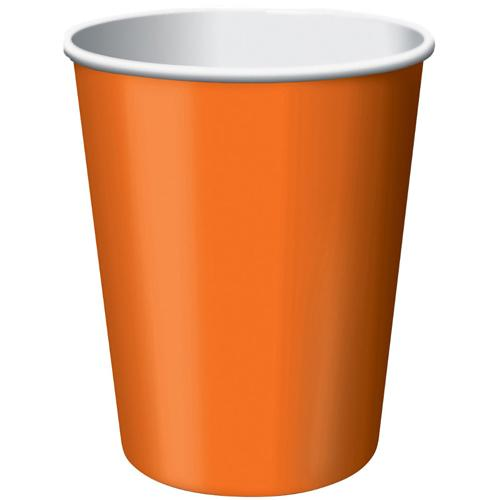 Paper Cups Orange Peel 8 Pack