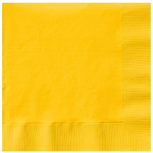 Paper Napkins Sunshine Yellow 20 Pack