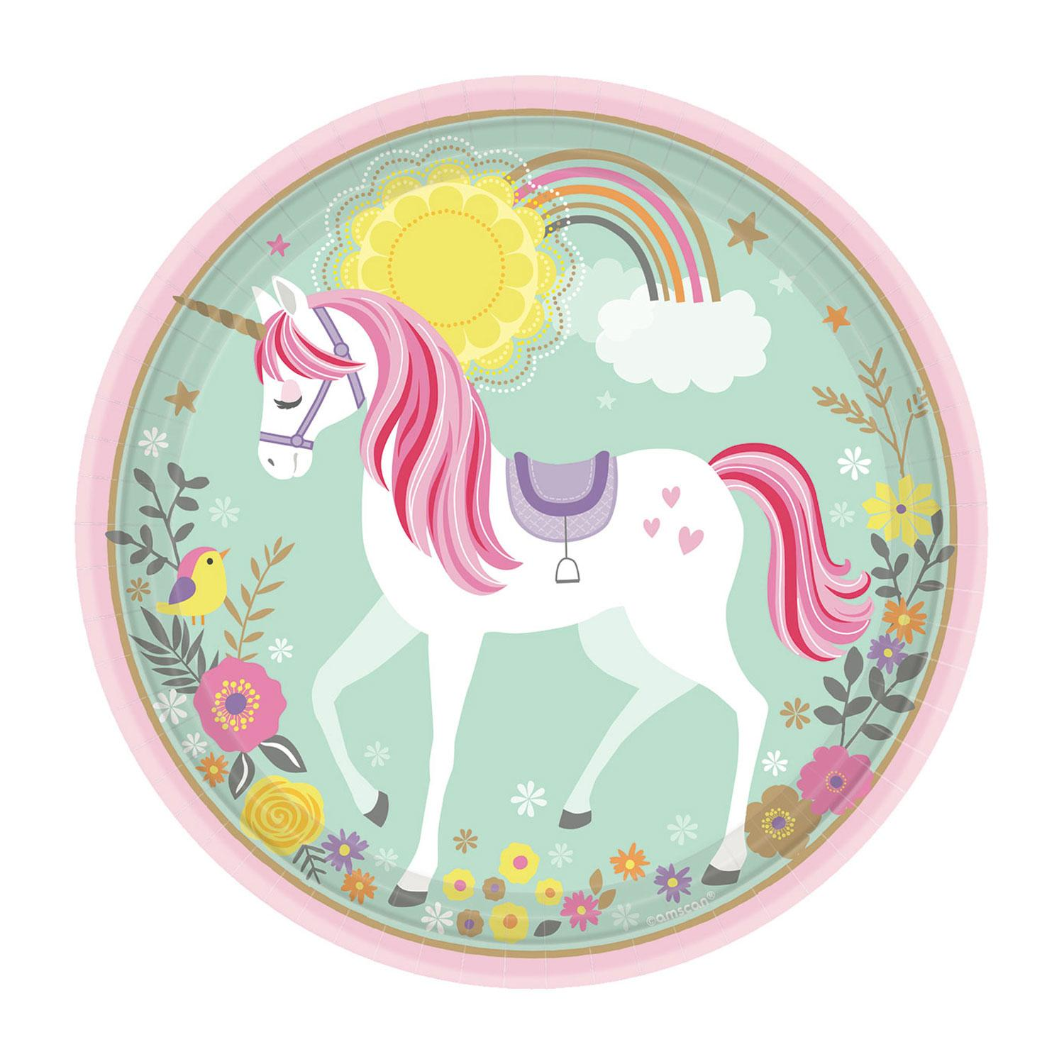 Paper Plates Magical Unicorn