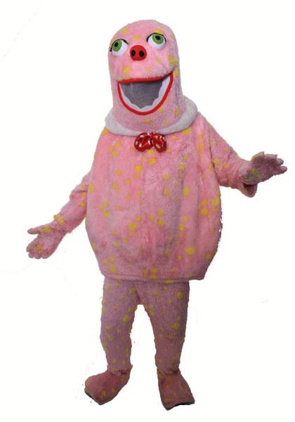 Mr Blobby Style Mascot Hire Costume