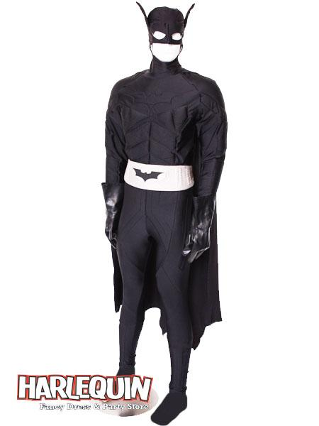 Batman Style Hire Costume Black