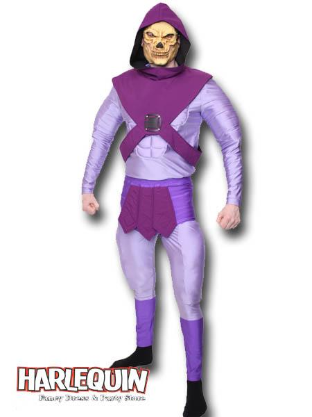 Skeletor Style Hire Costume