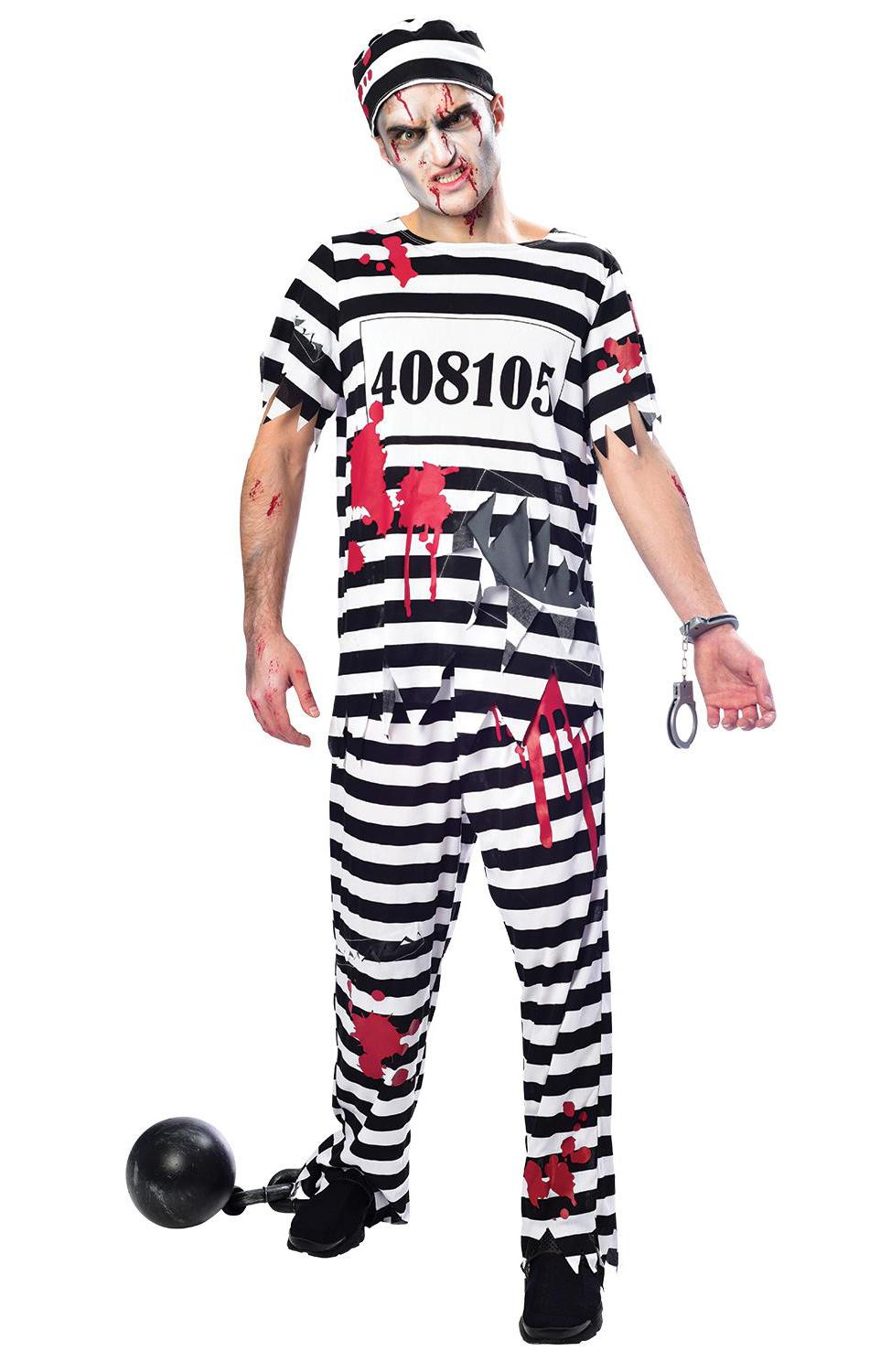 Zombie Convict Man Costume