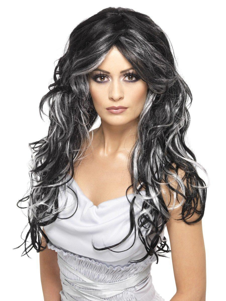 Gothic Bride Wig Black & White