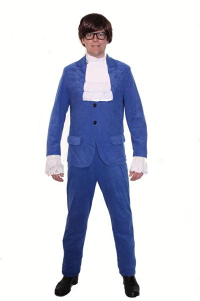 1960s Austin Powers Blue Hire Costume