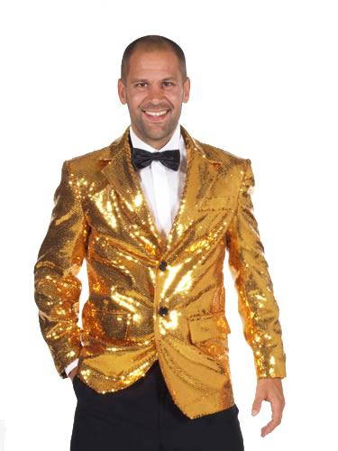 Sequin Jacket Gold Hire Costume
