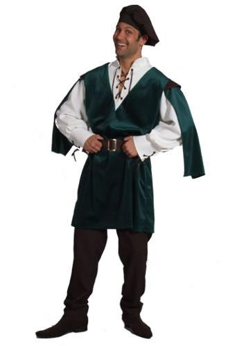 Medieval Man Green Hire Costume