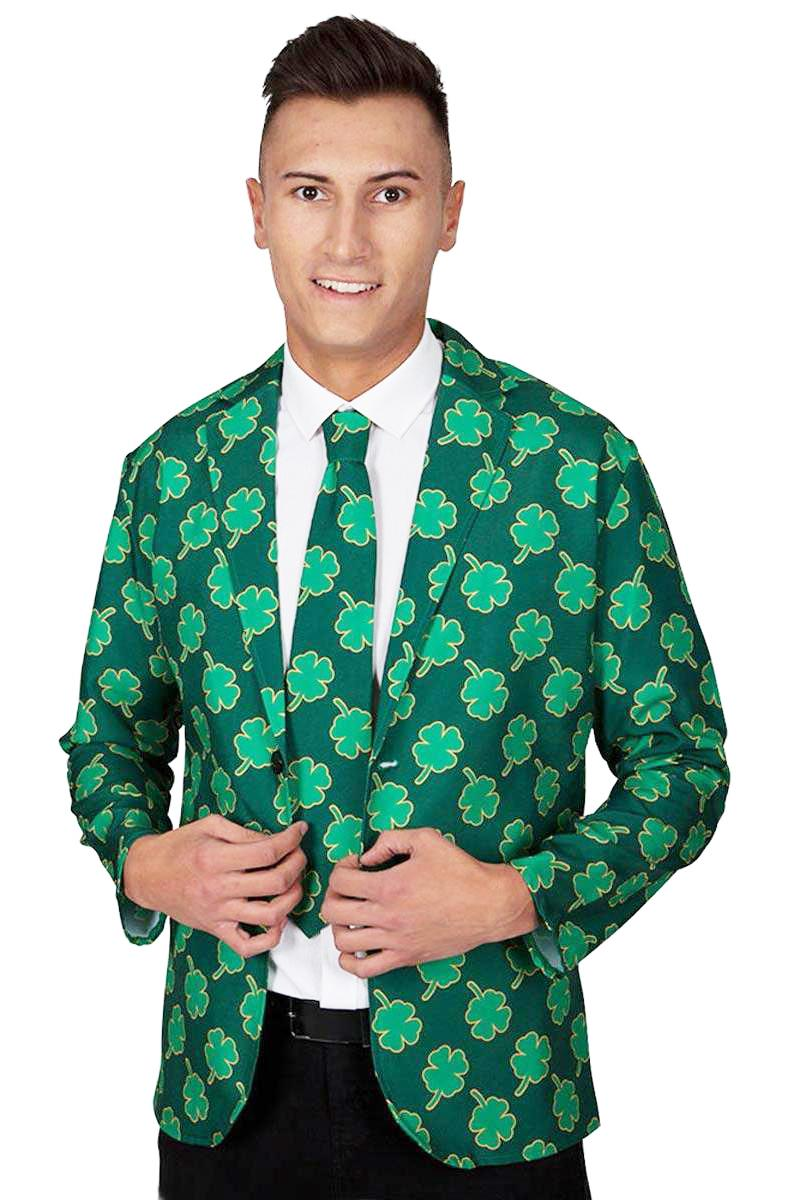 St Patricks Shamrock Jacket & Tie