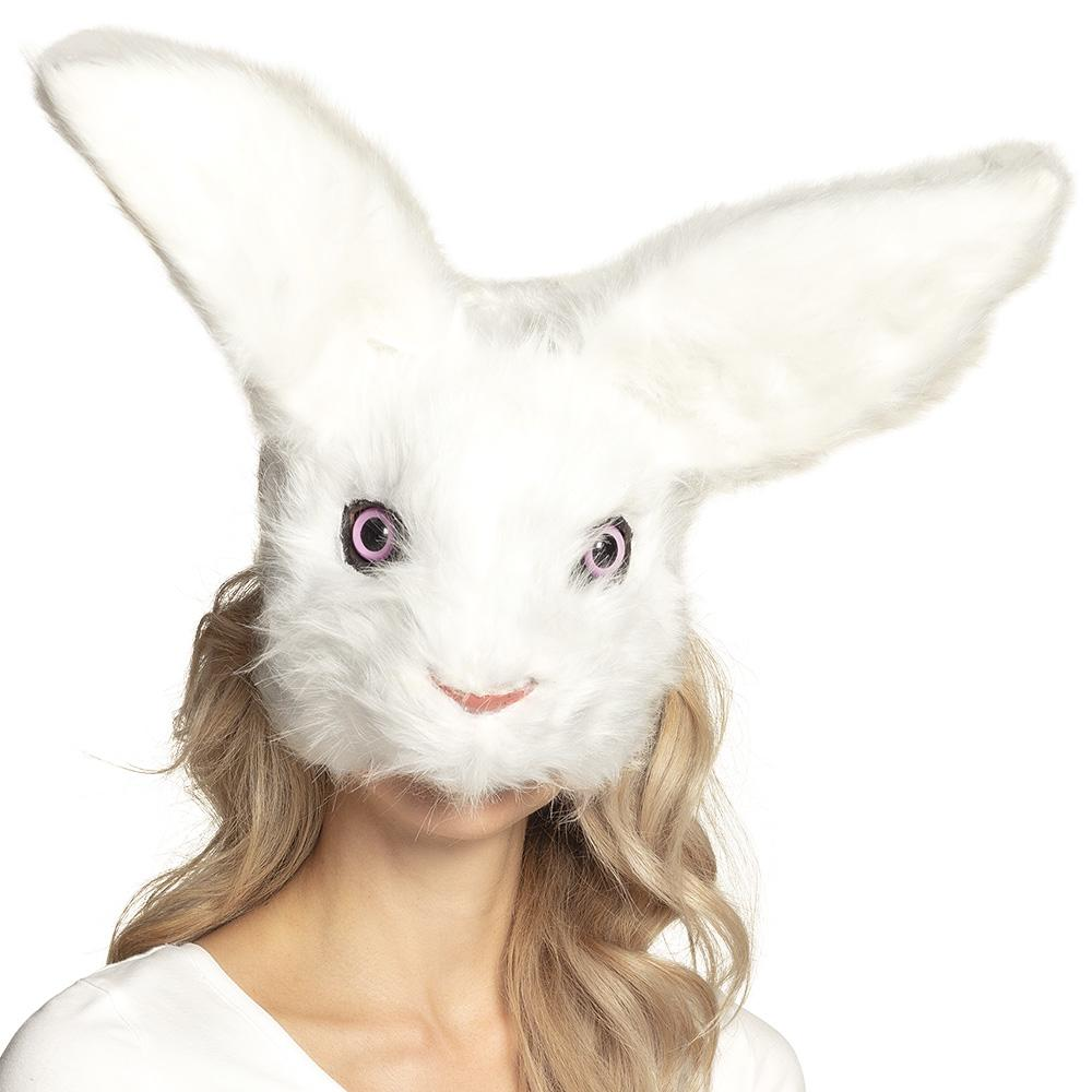Plush Rabbit Half Mask