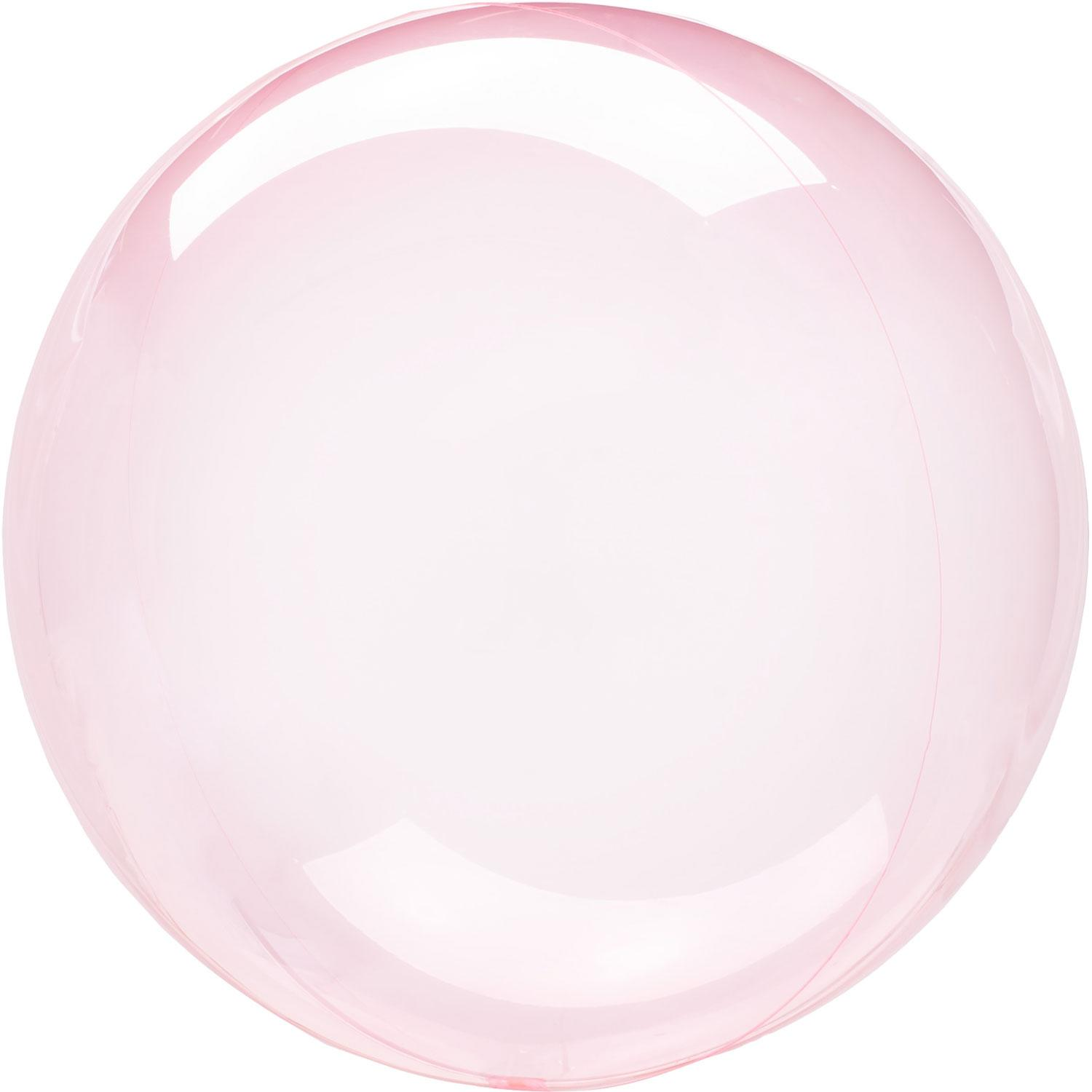 Crystal Clearz Bubble Balloon Dark Pink