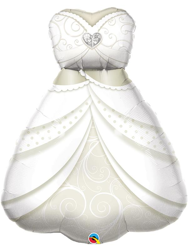 Foil Balloon Brides Wedding Dress